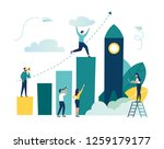 vector illustration  people run ... | Shutterstock .eps vector #1259179177