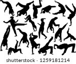illustration with breakdancers... | Shutterstock .eps vector #1259181214