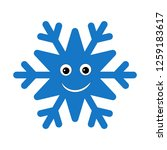 snowflake smiley baby face.... | Shutterstock .eps vector #1259183617