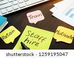 staff hire  train  motivate and ... | Shutterstock . vector #1259195047