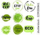 healthy food icons  labels.... | Shutterstock .eps vector #1259200861