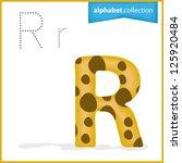 one letter of curve alphabet  ... | Shutterstock .eps vector #125920484