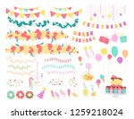vector collection of flat decor ... | Shutterstock .eps vector #1259218024