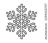 snowflake line icon. beautiful... | Shutterstock . vector #1259223757