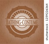bathing costume wood signboards | Shutterstock .eps vector #1259226364