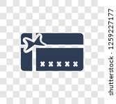 loyalty card icon. trendy... | Shutterstock .eps vector #1259227177