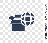worldwide delivery icon. trendy ... | Shutterstock .eps vector #1259227321