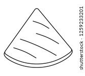 mexican pita icon. outline... | Shutterstock .eps vector #1259233201