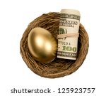Golden Egg With Roll Of Money...
