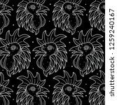 chicken head tattoo pattern...   Shutterstock .eps vector #1259240167