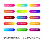 web buttons flat design with... | Shutterstock .eps vector #1259248747