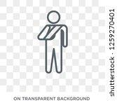 broken arm icon. trendy flat... | Shutterstock .eps vector #1259270401