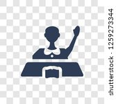 raise hand icon. trendy raise... | Shutterstock .eps vector #1259273344