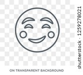 blushing emoji icon. blushing... | Shutterstock .eps vector #1259278021