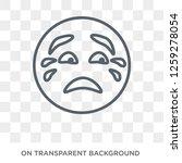 cry emoji icon. cry emoji...   Shutterstock .eps vector #1259278054