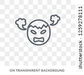 exploding head emoji icon.... | Shutterstock .eps vector #1259278111