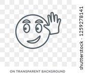 hello emoji icon. hello emoji...   Shutterstock .eps vector #1259278141