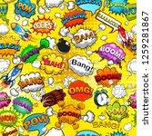 comic speech bubbles seamless... | Shutterstock .eps vector #1259281867