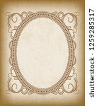 old oval frame with the blacked ... | Shutterstock .eps vector #1259285317