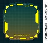 creative hud futuristic frame ...