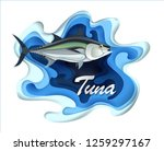 tuna fish seafood  in... | Shutterstock .eps vector #1259297167