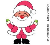 happy santa claus smiling with... | Shutterstock .eps vector #1259298904
