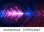 abstract speed technology... | Shutterstock .eps vector #1259313667