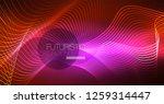neon lines wave background.... | Shutterstock .eps vector #1259314447
