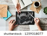 financial graphs and charts on...   Shutterstock . vector #1259318077