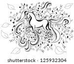 hand drawn horse background | Shutterstock .eps vector #125932304