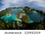 the remote limestone islands of ... | Shutterstock . vector #125932319