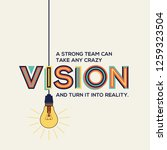 vision quote in modern... | Shutterstock .eps vector #1259323504