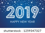 2019 happy new year. vector... | Shutterstock .eps vector #1259347327