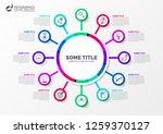 infographic design template....   Shutterstock .eps vector #1259370127