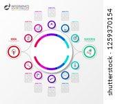 infographic design template. 2...   Shutterstock .eps vector #1259370154