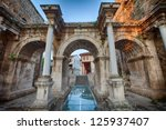 View Of Hadrian's Gate In Old...