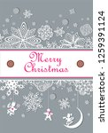 winter pastel paper decoration...   Shutterstock . vector #1259391124
