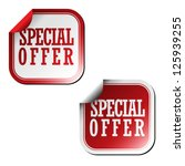 special offer stickers | Shutterstock .eps vector #125939255