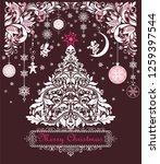 ornate vintage sweet christmas...   Shutterstock . vector #1259397544