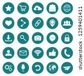 social icon. web icons. popular ... | Shutterstock .eps vector #1259401411