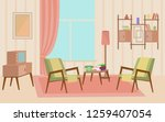 old fashioned furniture room... | Shutterstock . vector #1259407054