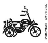 motorbike carriage icon. simple ...   Shutterstock .eps vector #1259419237
