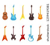 guitar vector illustration set  ... | Shutterstock .eps vector #1259419381