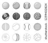 vector design of sport and ball ... | Shutterstock .eps vector #1259432824