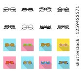 isolated object of glasses and... | Shutterstock .eps vector #1259433571