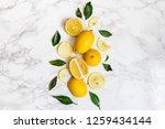 ripe lemon on white background | Shutterstock . vector #1259434144