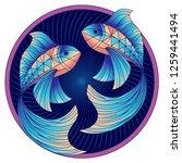 pisces zodiac sign ... | Shutterstock .eps vector #1259441494