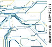 circuit board  digital chip... | Shutterstock .eps vector #1259452141