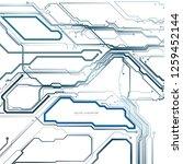 circuit board  digital chip... | Shutterstock .eps vector #1259452144