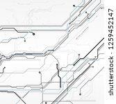 circuit board  digital chip... | Shutterstock .eps vector #1259452147